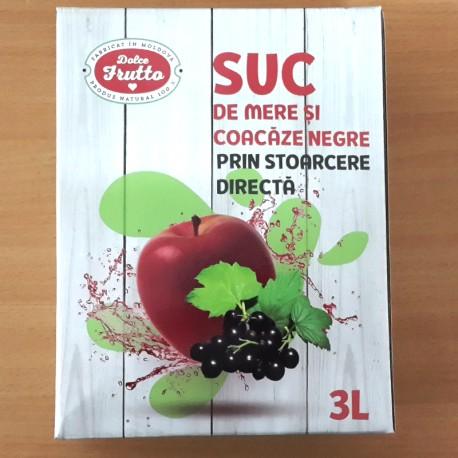Suc de mere șo coacăze negre